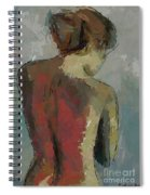 A Study Of A Standing Nude Spiral Notebook
