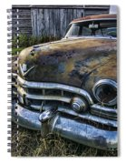 A Stylized Wide Angle Look At An Old Rusty Cadillac By A Cornfield Spiral Notebook