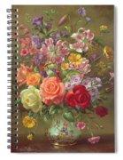 A Summer Floral Arrangement Spiral Notebook
