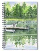 A Summer Pond Spiral Notebook