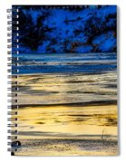 A Sunset In A River Of Ice Spiral Notebook