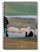 A Sunset Stroll Spiral Notebook