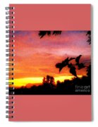 A Sunset With A Different Mood Spiral Notebook