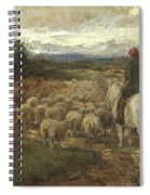 A Sussex Lane, 1872 Spiral Notebook
