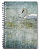 A Swan's Reverie Spiral Notebook