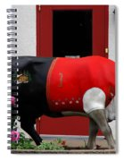 A Swiss Cow In New Glarus Wi Spiral Notebook