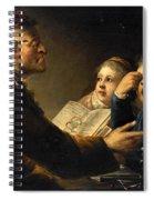 A Teacher And His Pupils Spiral Notebook