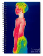 A Thermogram Of A Boy In Shorts Profile Spiral Notebook