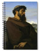 A Thinker A Young Roman Monk Spiral Notebook