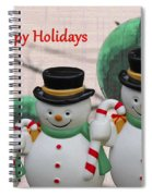 A Three Snowman Holiday Spiral Notebook