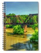 A Time Gone By Railroad Bridge Lumber City Georgia Spiral Notebook