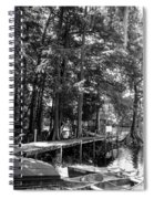 A Time To Go Fishing Bw Spiral Notebook