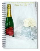A Toast To Love And Laughter Spiral Notebook