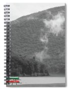 A Touch Of Color By The Lake Spiral Notebook