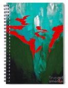A Touch Of Red Spiral Notebook