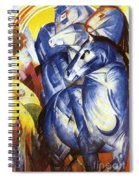 A Tower Of Blue Horses Spiral Notebook