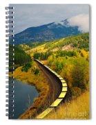 A Train Of Golden Grain  Spiral Notebook