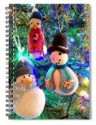 A Trio Of Snowmen Spiral Notebook