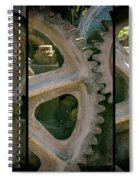 A Triptych Of Old Gears Spiral Notebook
