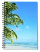 A Tropical Palm Tree Beach Spiral Notebook