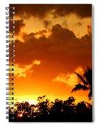A Tropical Sunset Spiral Notebook