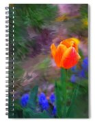 A Tulip Stands Alone Spiral Notebook