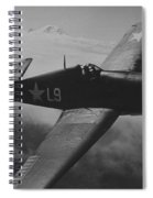 A Us Navy Hellcat Fighter Aircraft In Flight Spiral Notebook