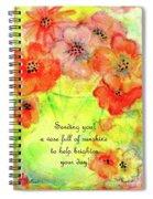 A Vaseful Of Sunshine Spiral Notebook
