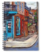 A Vendre Petits Formats L'art De Montreal Originals For Sale Wilensky's Diner Best Montreal Scenes Spiral Notebook