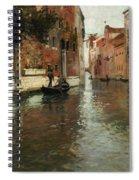 A Venetian Backwater  Spiral Notebook