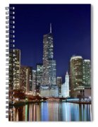A View Down The Chicago River Spiral Notebook