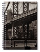 A View From The Bridge - Manhattan Bridge New York Spiral Notebook