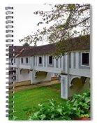 A View From The Cesky Krumlov Castle Gardens At Cesky Krumlov, Czech Republic Spiral Notebook