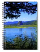 A View Of Beacon Rock Spiral Notebook