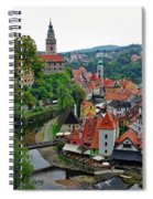 A View Of Cesky Krumlov And Castle In The Czech Republic Spiral Notebook