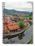 A View Of Cesky Krumlov And The Vltava River In The Czech Republic Spiral Notebook