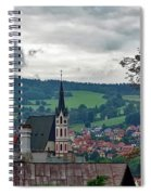 A View Of Cesky Krumlov  Spiral Notebook