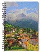 A View Of Engelberg Switzerland Spiral Notebook