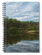 A View Of Meadowlark Gardens Early On A Spring Morning Cm1 Spiral Notebook
