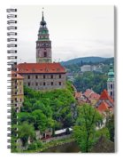 A View Of The Cesky Kromluv Castle Complex In The Czech Republic Spiral Notebook
