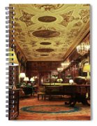A View Of The Chatsworth House Library, England Spiral Notebook