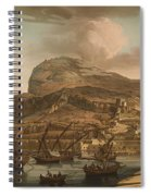 A View Of The Rock Of Gibraltar From The Spanish Lines 1782 Spiral Notebook