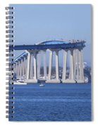 A View Of The South End Of The San Diego-coronado Bridge Spiral Notebook