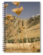 A View Of The Tajo De Ronda And Puente Nuevo Bridge Serrania De Ronda Andalucia Spain Spiral Notebook