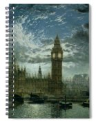 A View Of Westminster Abbey And The Houses Of Parliament Spiral Notebook