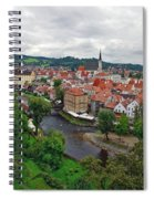 A View Overlooking The Vltava River And Cesky Krumlov In The Czech Republic Spiral Notebook