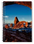 A View Through The Arch Spiral Notebook
