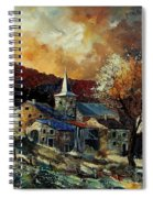 A Village In Autumn Spiral Notebook