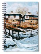 A Village In Winter Spiral Notebook