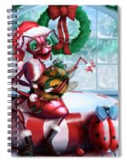 A Visit With Santa Spiral Notebook